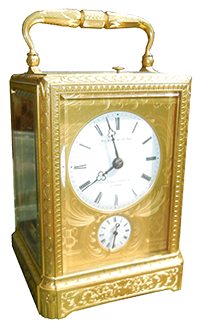 carriage clock, travel